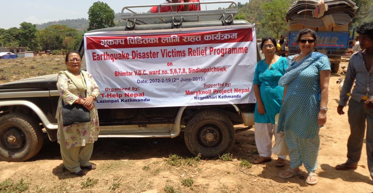 T-HELP relief work at Ichowk village